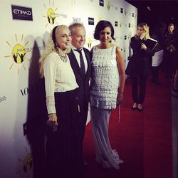 """<i>Vogue Italia</i> editor-in-chief Franca Sozzani with celebrity chef Wolfgang Puck and his wife, Gelila Assefa. Image via @chefwolfgangpuck/<a href=""""http://instagram.com/p/f39OgmHkkQ/"""">Instagram</a>"""