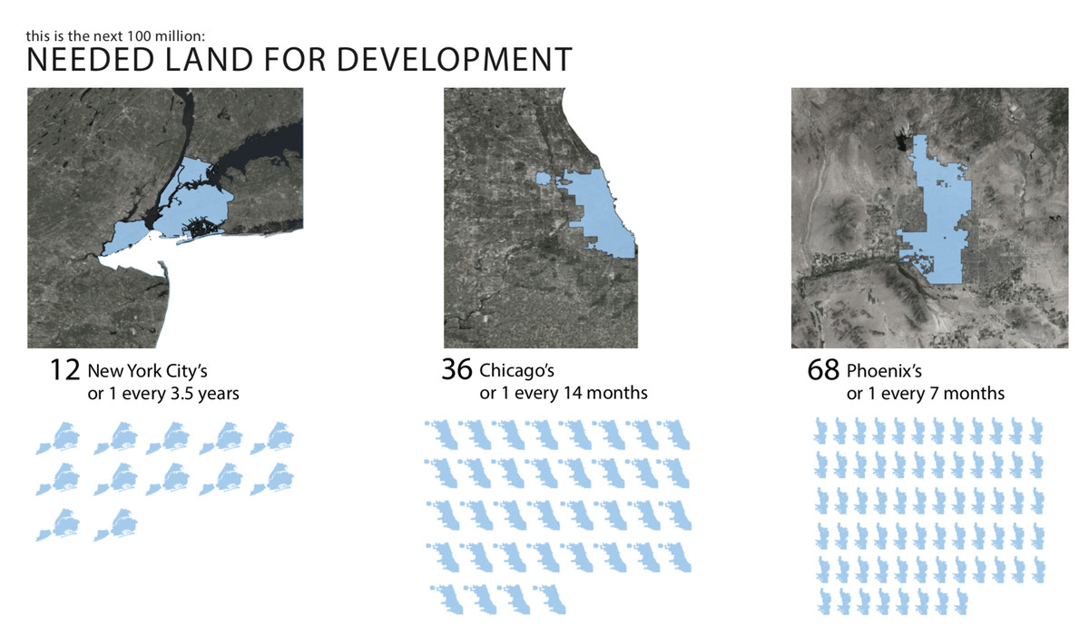 A graphic showing satellite maps of New York City, Chicago, and Phoenix.