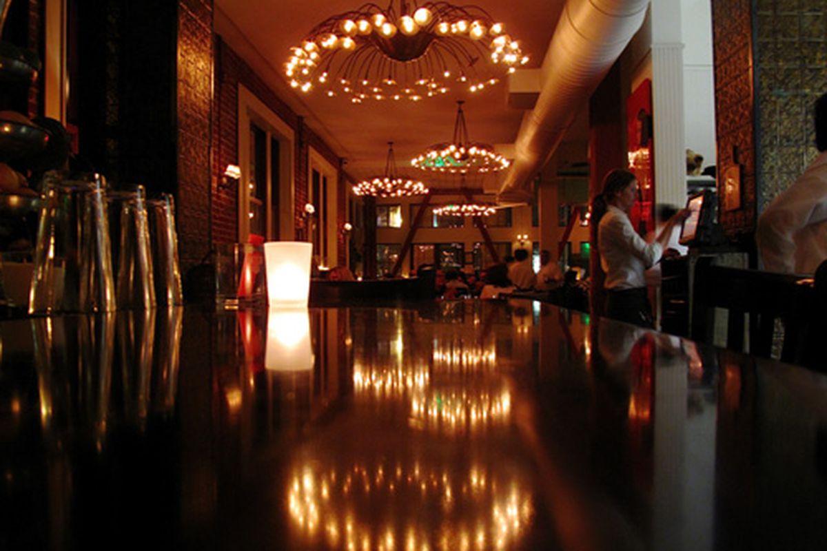 The bar at Town Hall.