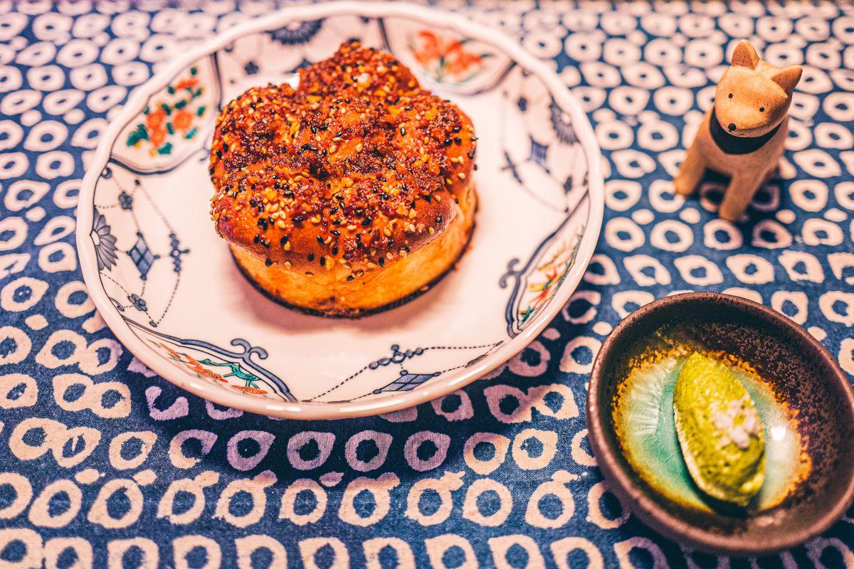 Chili garlic milk bun at Viridian
