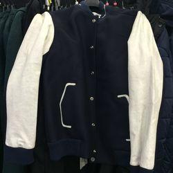 Varsity jacket, size L, $184