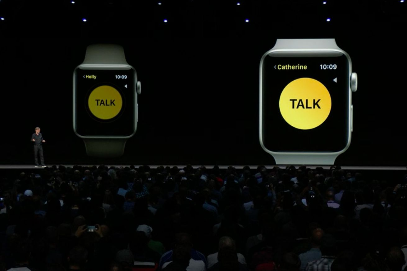 walkie talkie on the apple watch is a clever riff on facetime audio