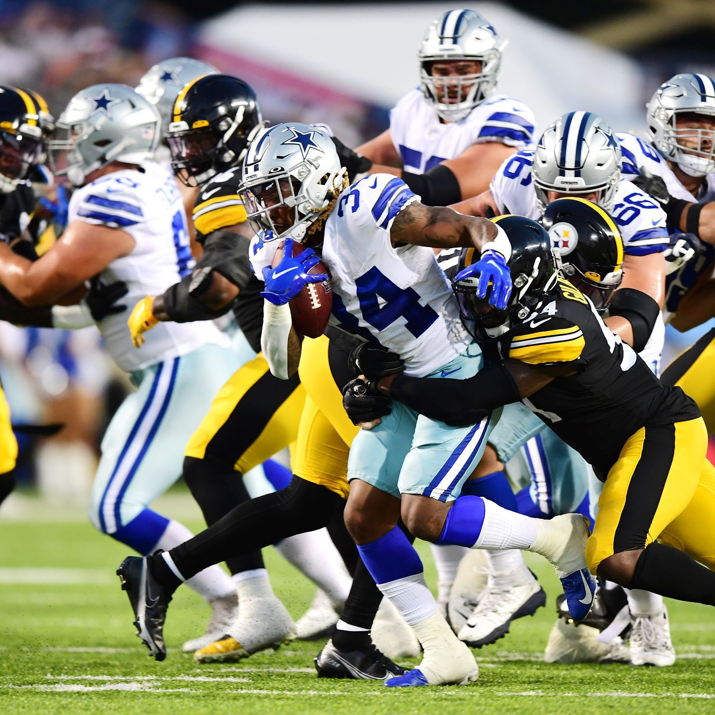 Rico Dowdle Preseason Snap Count Stats Cowboys Second Year Rb Solid Behind Tony Pollard In Hof Game Draftkings Nation