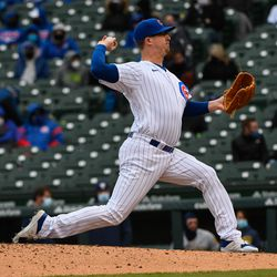 Alec Mills, Cubs starting pitcher on Sunday