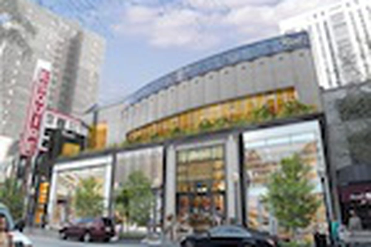 """Image: <a href=""""http://www.boothhansen.com/projects/commercial-mixed-use/esquire-theater-retail/"""">via</a> Booth Hansen"""