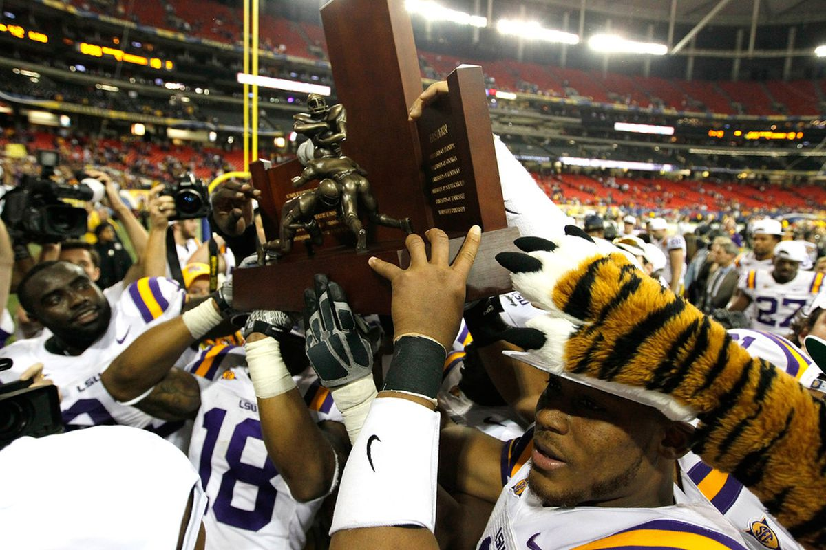 We won a title. We have a trophy to prove it. (Photo by Kevin C. Cox/Getty Images)