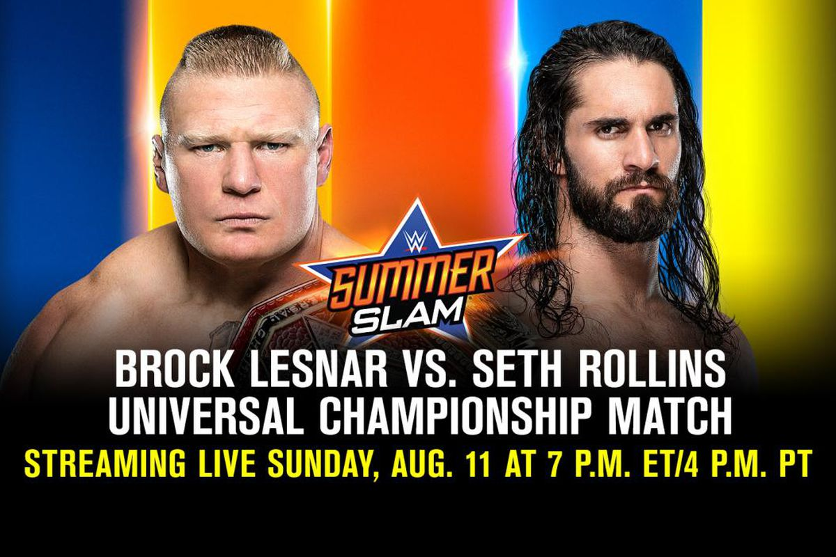 Watch WWE SummerSlam 2019 Lesnar vs  Rollins Live Stream Reddit