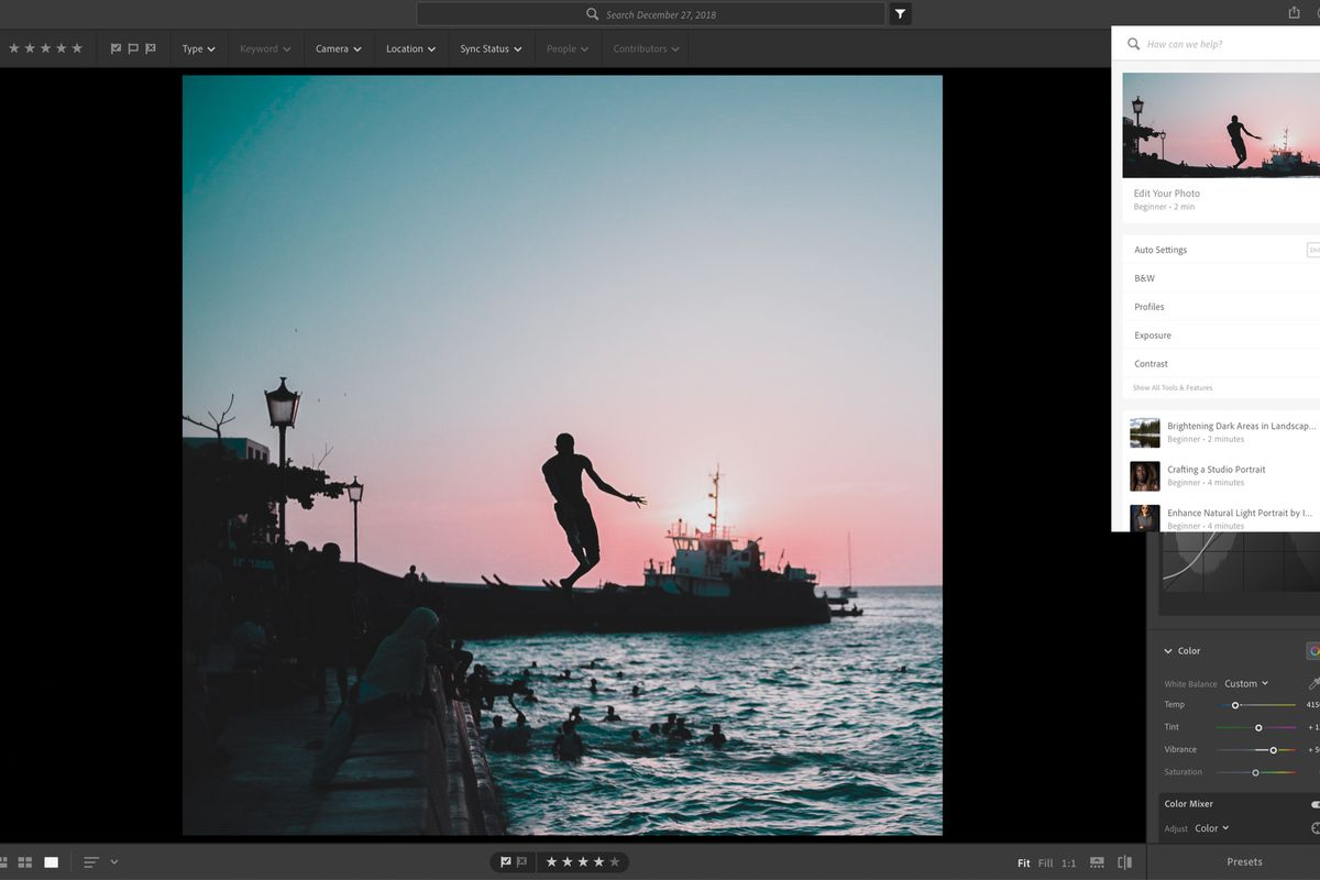 Adobe Lightroom is getting in-app tutorials that show the photo