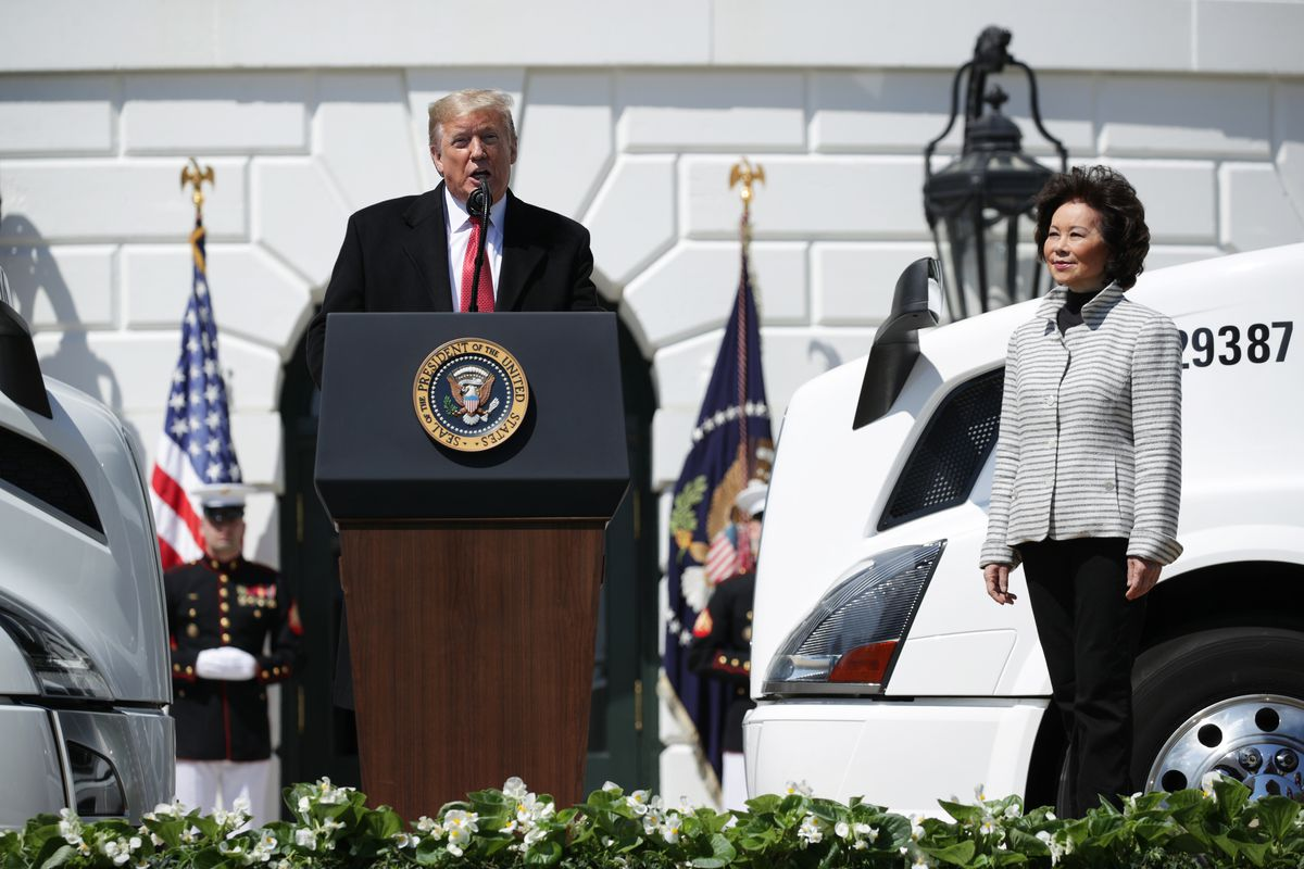 President Trump Holds Event Praising Truckers At The White House