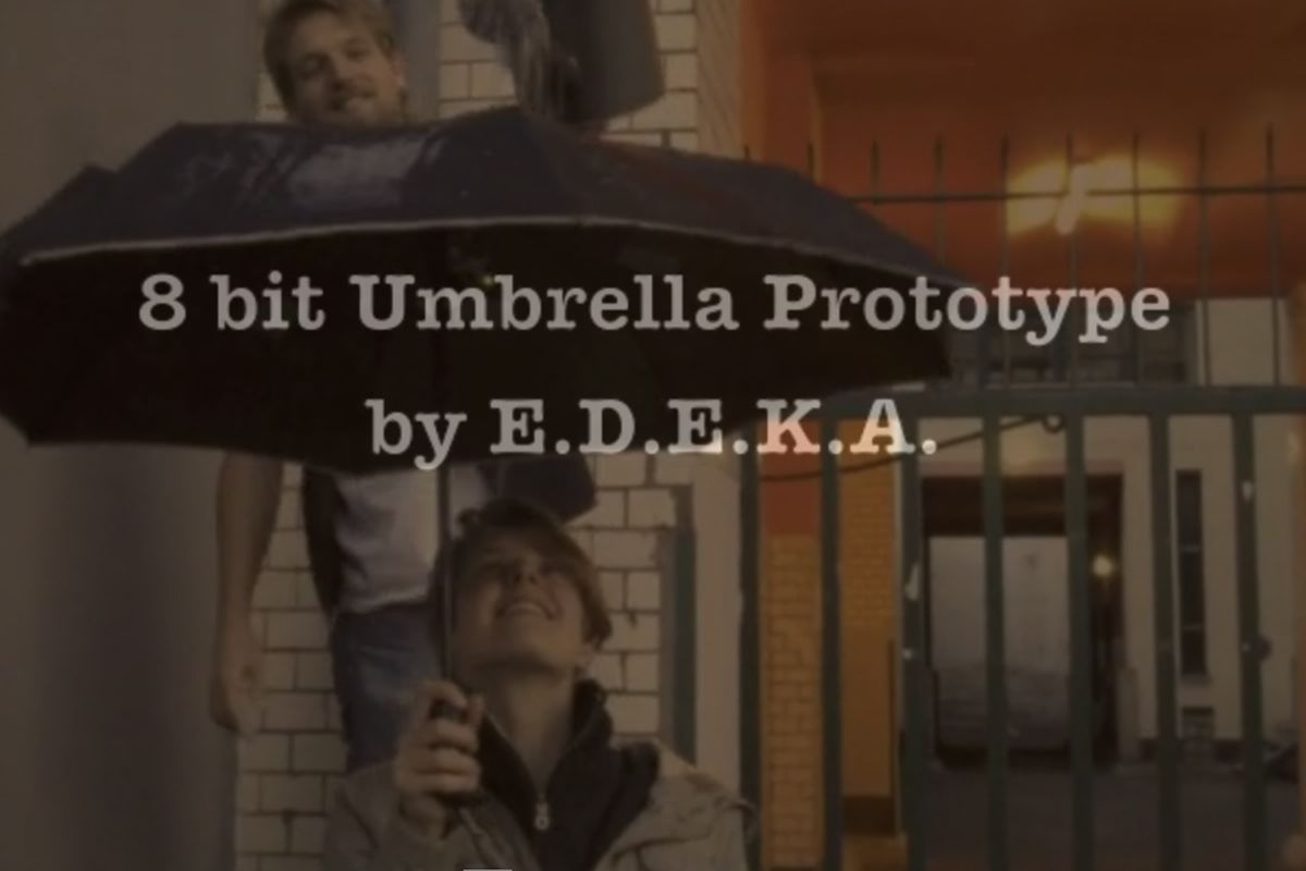 8-bit chiptune umbrella