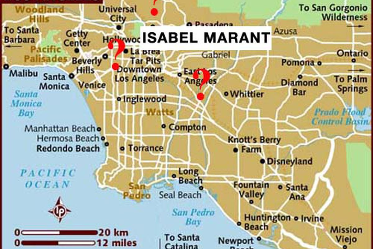 """Map of LA via <a href=""""http://www.lonelyplanet.com/maps/north-america/usa/los-angeles/"""">Lonely Planet</a>."""