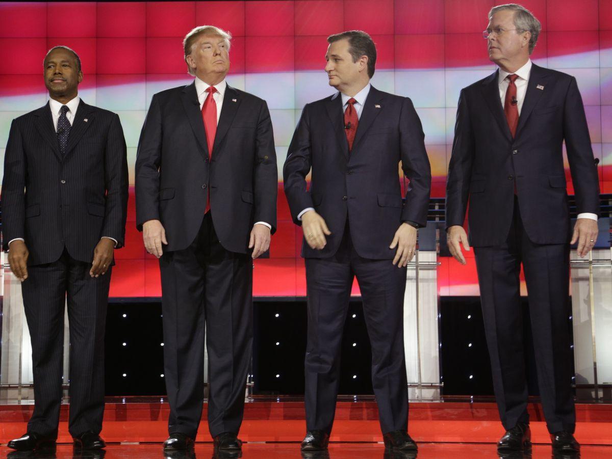 Donald Trump at the Republican debate in Las Vegas, Nevada, this December. (Joseph Sohm / Shutterstock.com)