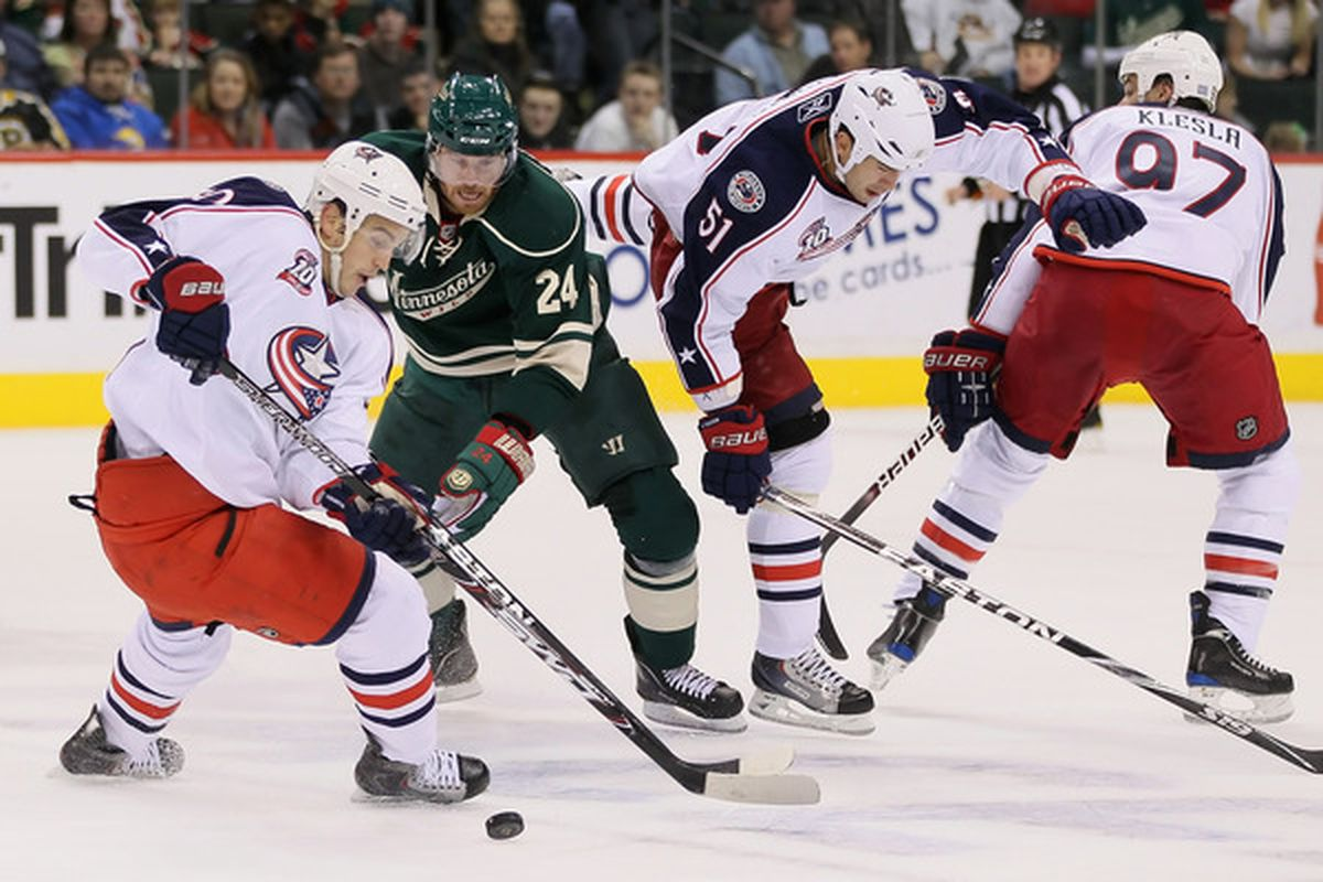 Martin Havlat and the Wild had a shot at sweeping the Blue Jackets this week. Did they succeed? Read and find out! (Photo by Jeff Gross/Getty Images)