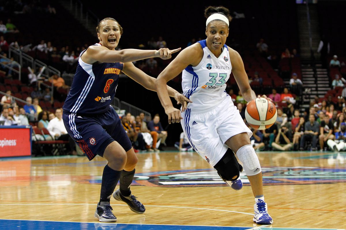 The New York Liberty welcomed back Plenette Pierson after the WNBA's break for the 2012 London Olympics.  <em>Photo by Debby Wong-US PRESSWIRE.</em>
