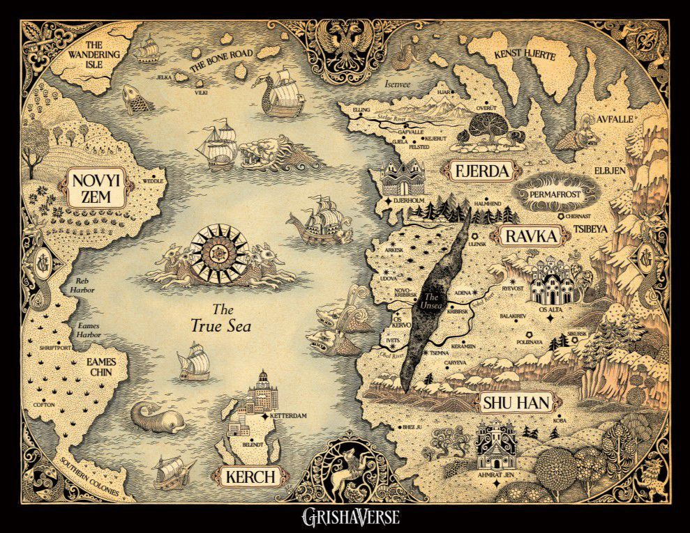 A map of the Shadow and Bone universe
