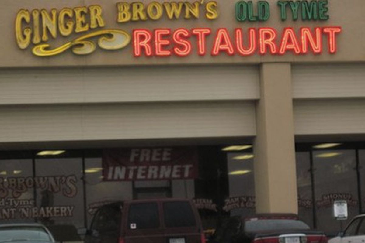 Ginger Brown's Old Tyme Restaurant.