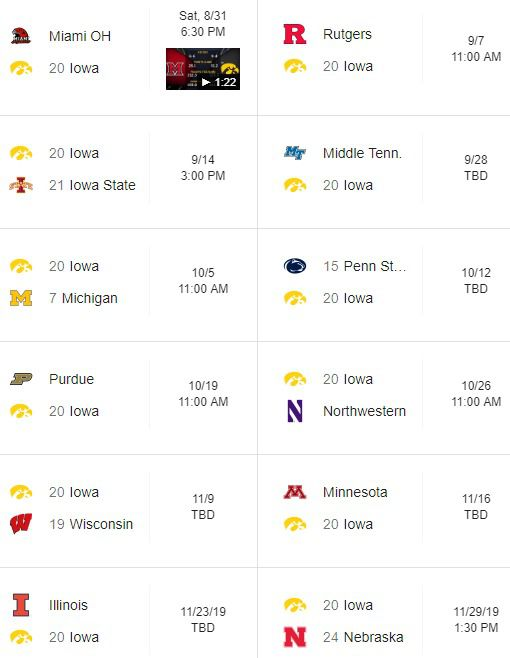 Michigan football schedule 2019