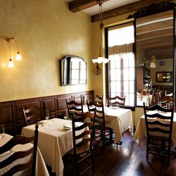 Vetri: Philly's biggest national star, Vetri, has a very reserved look. The old-timey furniture and woodwork are in lock step with the rustic food coming out of the kitchen.