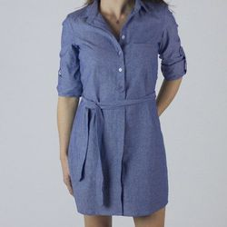 "Light chambray dress, <a href=""http://www.marinelayer.com/shop/womens/women-s-chambray-dress.html"">$110</a>"