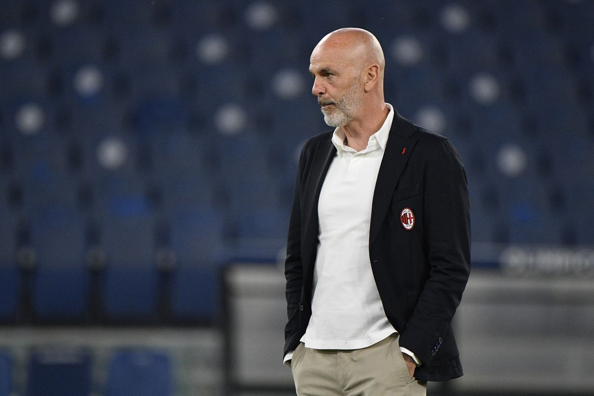 Stefano Pioli coach of AC Milan seen during the 2020-2021...