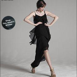 "<a href=""http://www.saksfifthavenue.com/main/ProductDetail.jsp?PRODUCT%3C%3Eprd_id=845524446480098&FOLDER%3C%3Efolder_id=282574492827505&bmUID=jr3Qrot&esre=fshnstrepisode6pdp1"">Fashion Star Chiffon Dress by Kara Laricks</a>, $375"