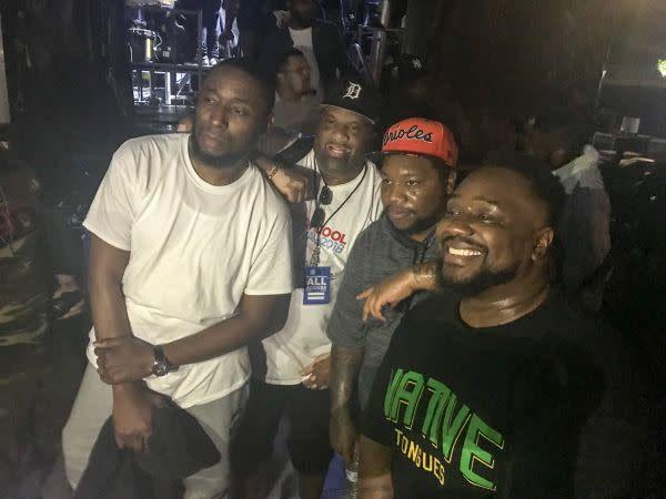 (Clockwise) 9th Wonder, Rapper Big Pooh (in grey), Phonte at Art of Cool Festival on Sept. 29, 2019