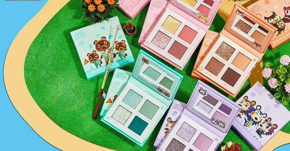 Nintendo is collaborating with ColourPop to create an Animal Crossing-themed makeup collection. The collection will have palettes based on characters from the game and will release on January 28th.