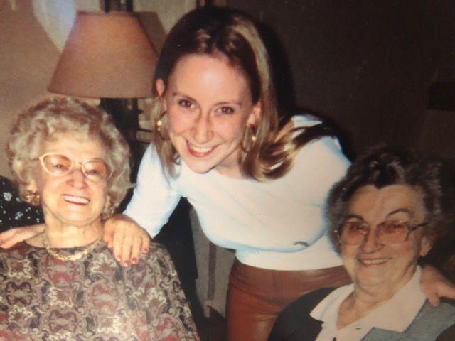 Vanessa Kolpak (center) with her grandmothers on her 21st birthday.