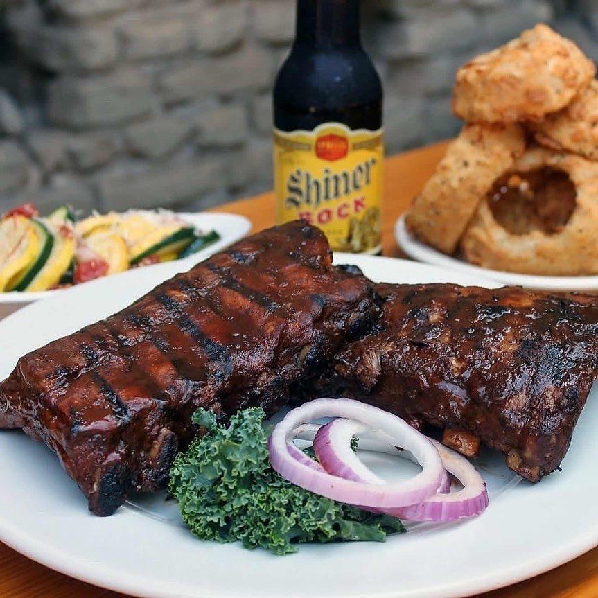 Barbecue ribs at Gristmill