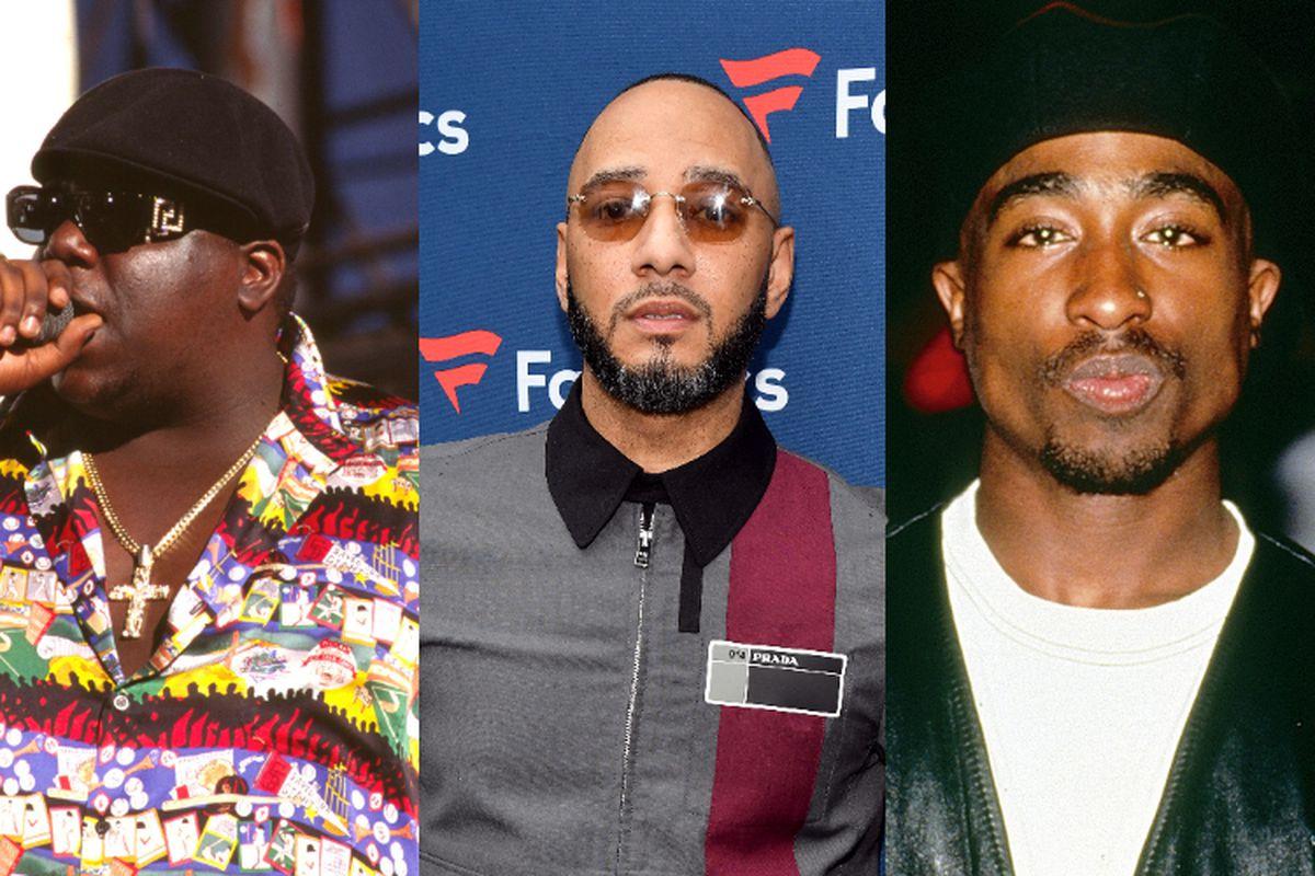 Notorious B.I.G, Swizz Beatz, and Tupac Shakur
