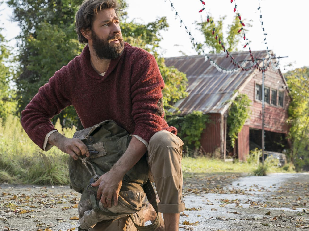 John Krasinski explains how he convinced his wife to do a dangerous scene in 'A Quiet Place II'