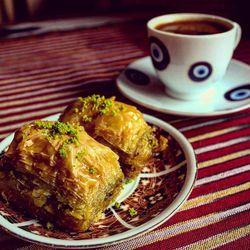 Baklava and Turkish coffee at Caffe Kilim