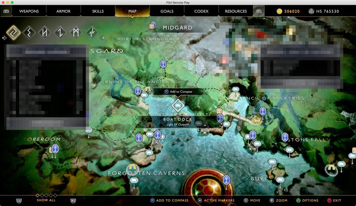 God of War Light Elf Outpost map