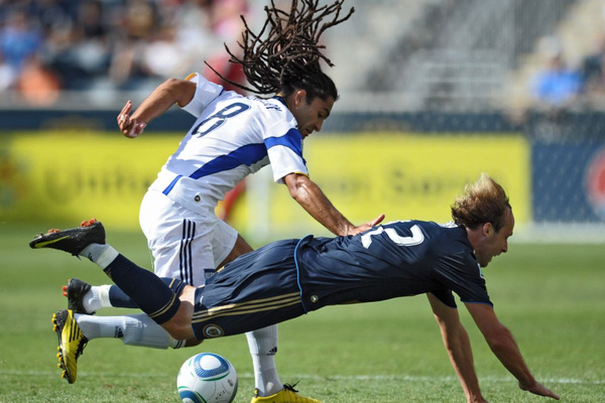 Winning the ball back - the name of <strong>Sporting KC</strong> midfielder <strong>Stephane Auvray</strong>'s game. Oh, and some sweet hair, too.