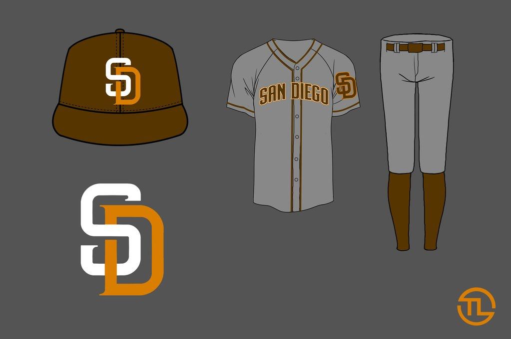 away Padres jersey gray orange redesign