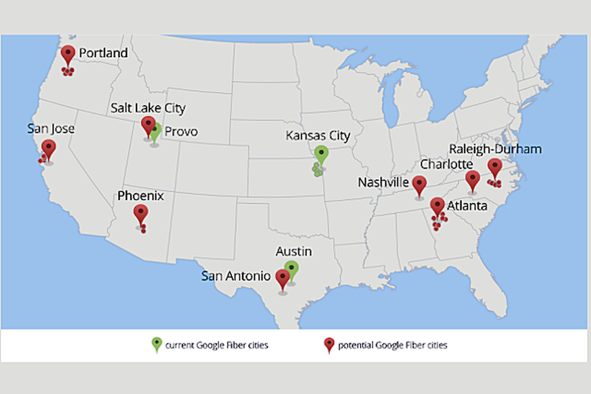 Google Asks for Local Help as It Broadens Fiber Rollout - Vox on rcn availability map, sprint availability map, netflix availability map, cox availability map, cablevision availability map, fiber optic availability map, 4g availability map, centurylink availability map, mediacom availability map,