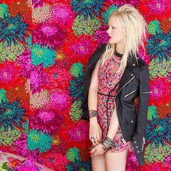 Deco Lace Dress, Spiked Moto Jacket, Mixed Bangles