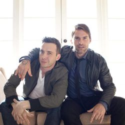 """In this March 18, 2012 file photo, actors Eddie Kaye Thomas, left, and Seann William Scott pose for a portrait during a media day for the upcoming feature film """"American Reunion"""" in Los Angeles. The film opens nationwide on Friday, April 6."""