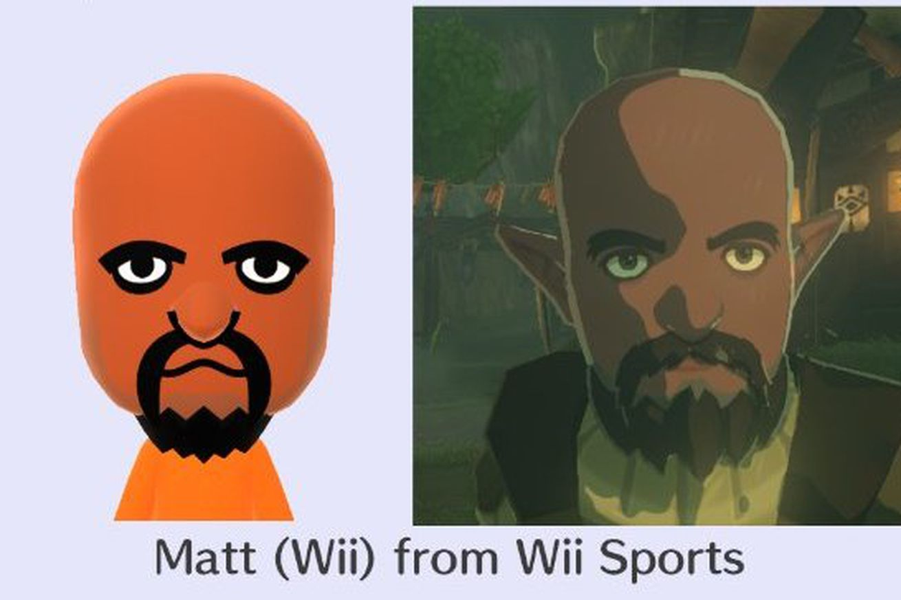 Image showing a Mii as a character in Breath of the Wild