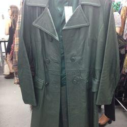 Leather coat, $65