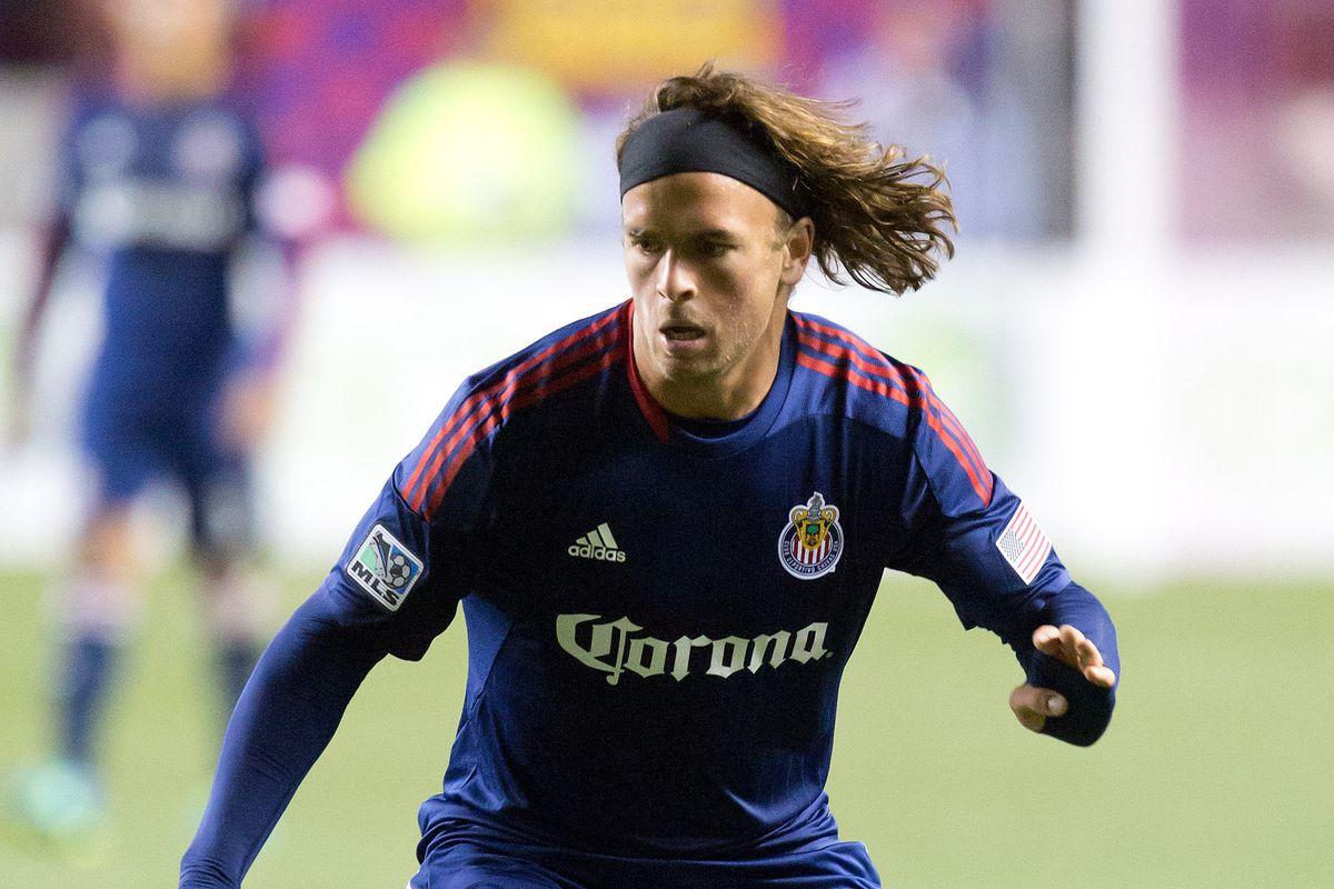 Louisville City FC Forward Matt Fondy, while playing for Chivas USA.