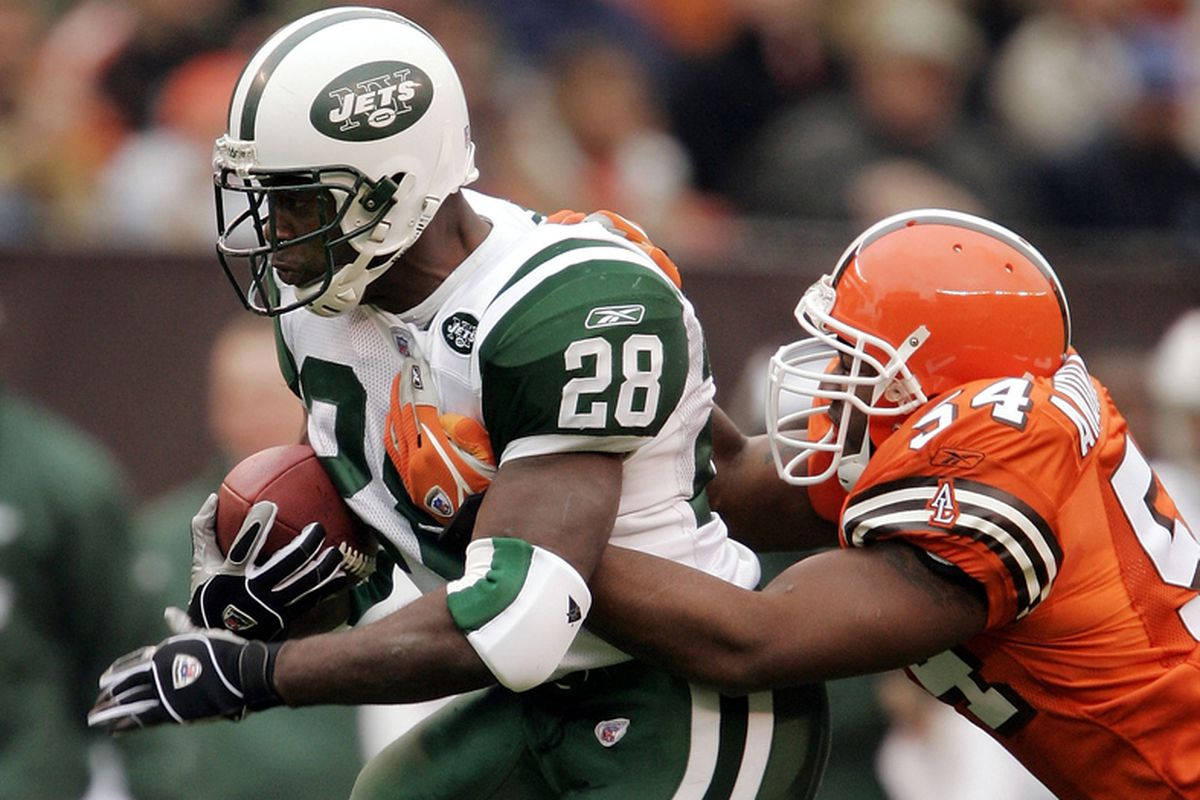Running back Curtis Martin back in 2004 with the New York Jets.