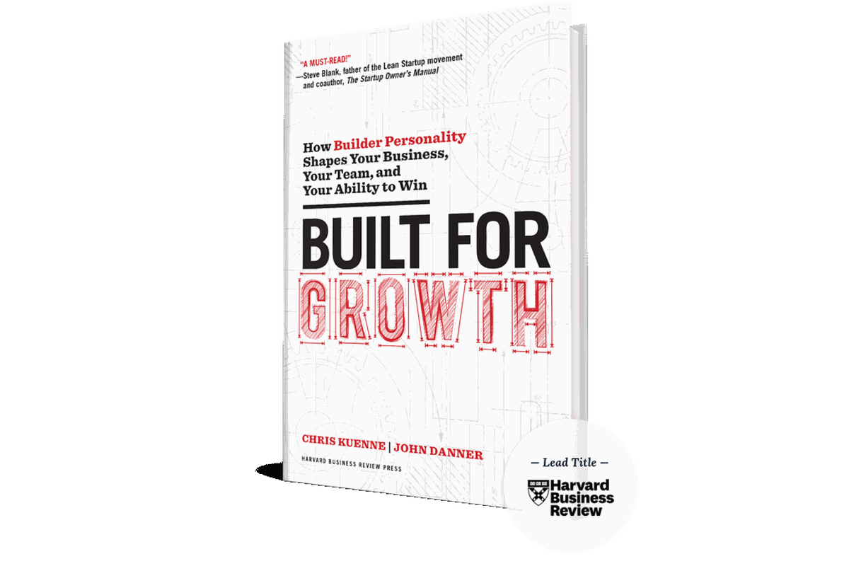 """The cover of """"Built for Growth,"""" a book by Chris Kuenne and John Danner"""