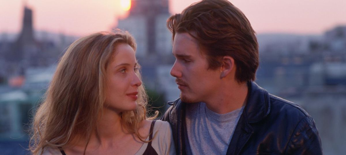 Céline (Julie Delpy) and Jesse (Ethan Hawke) in Richard Linklater's Before Sunrise