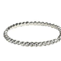 "<a href=""http://www.robertachiarella.com/store/item.php?sku=rc815""> Roberta Chiarella Stack 'Em crystal stretch bracelet</a>, $34 robertachiarella.com"