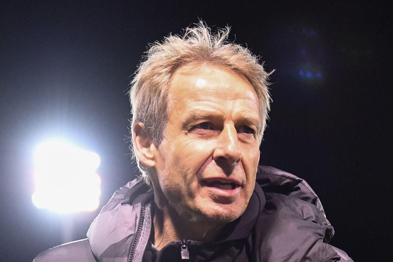 Jurgen Klinsmann WILL be on the Hertha bench vs Bayern Munich