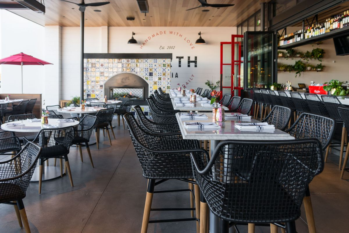 The patio at North Italia
