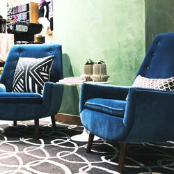 In case you tire of squeezing into yoga pants, these groovy lush chairs are just waiting for you...