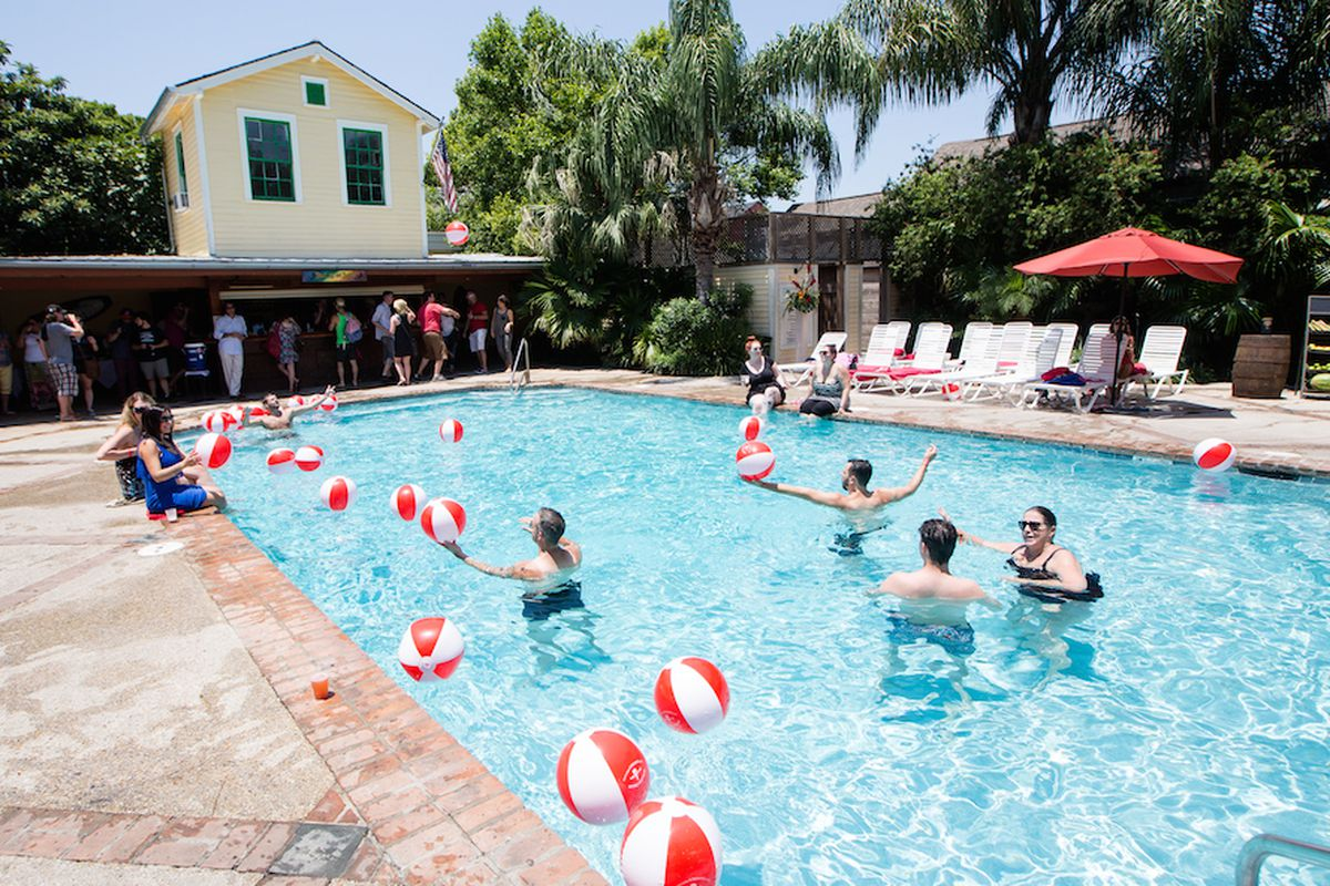 A pool party at The Country Club