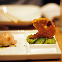 """Pac Man dumplings from Red Farm by <a href=""""http://www.flickr.com/photos/thupamodel/6276452081/in/pool-eater/"""">Alessia Elysee</a>."""